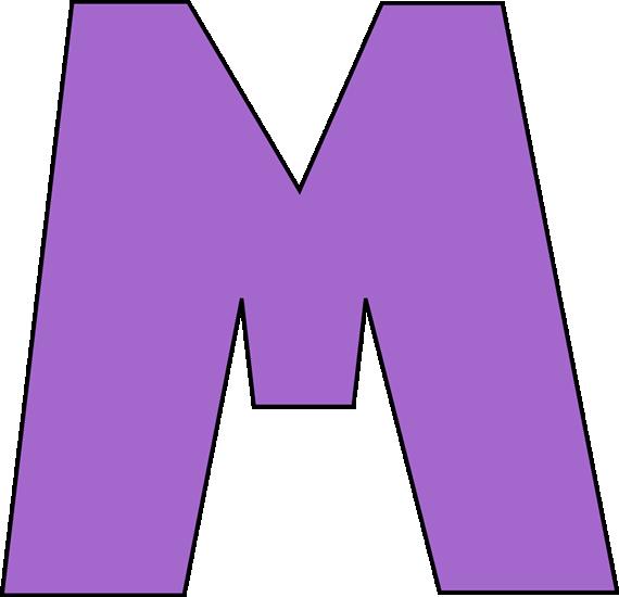 Letter m clip art. Markers clipart purple