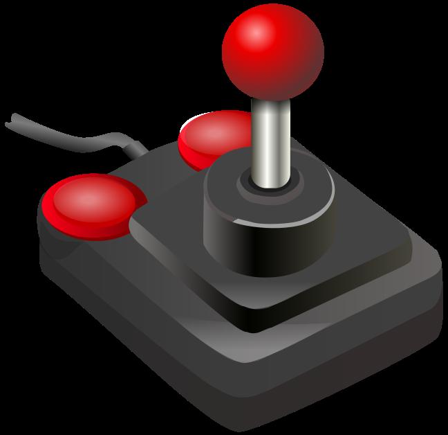 Computer clipart red. File joystick black petri