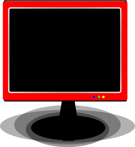 Clipart tv monitor. Red cover clip art