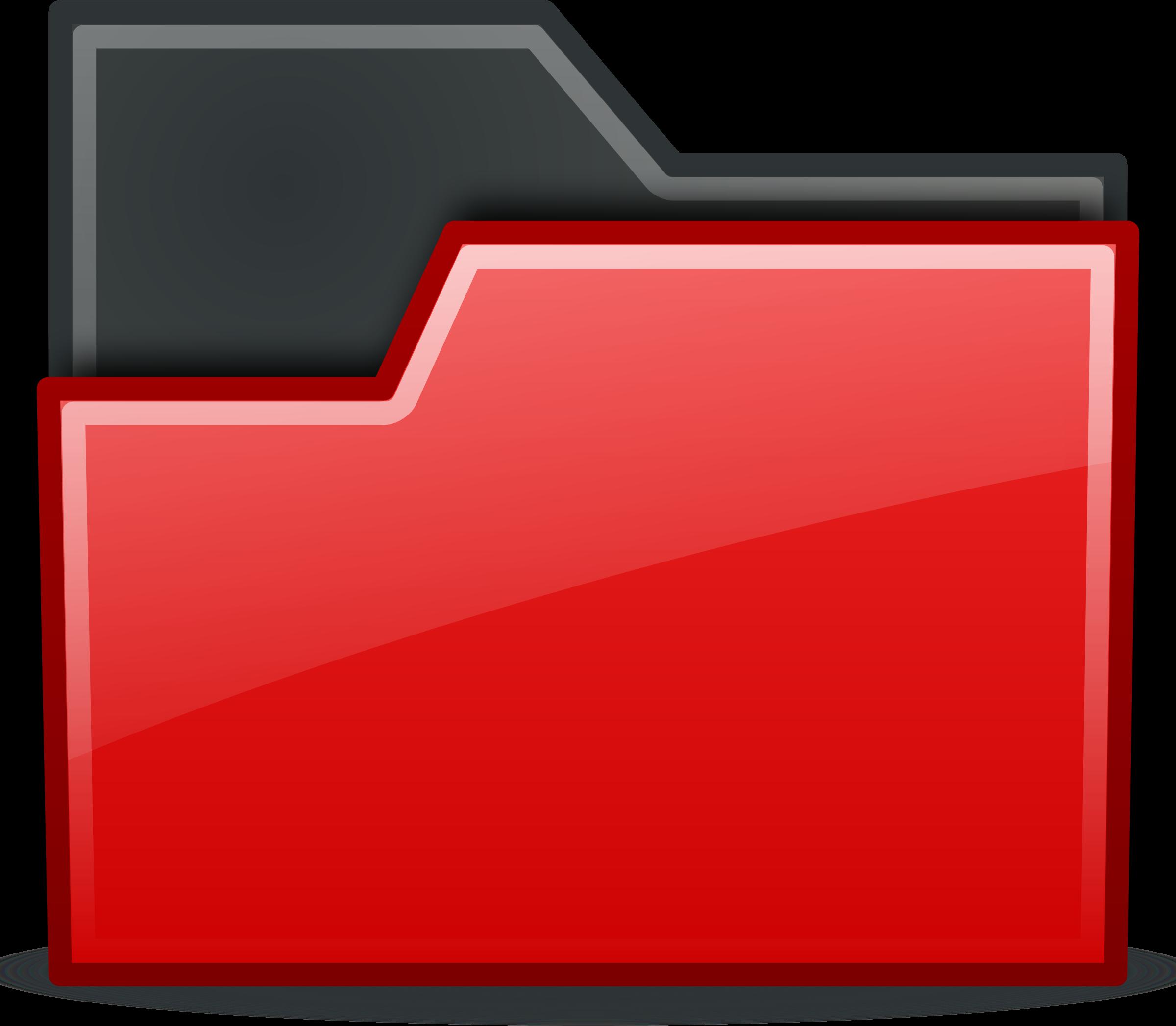 Computer clipart red. Folder big image png