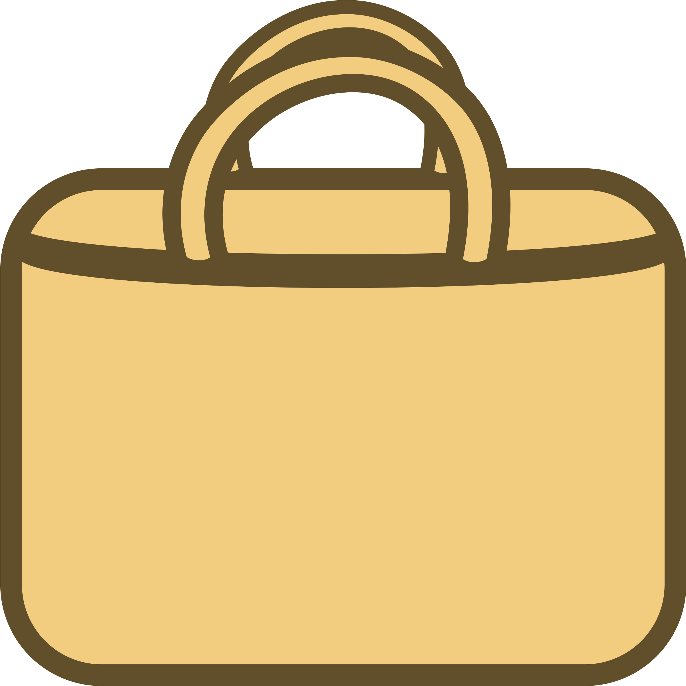 Simple shopping bag logo. Luggage clipart orange