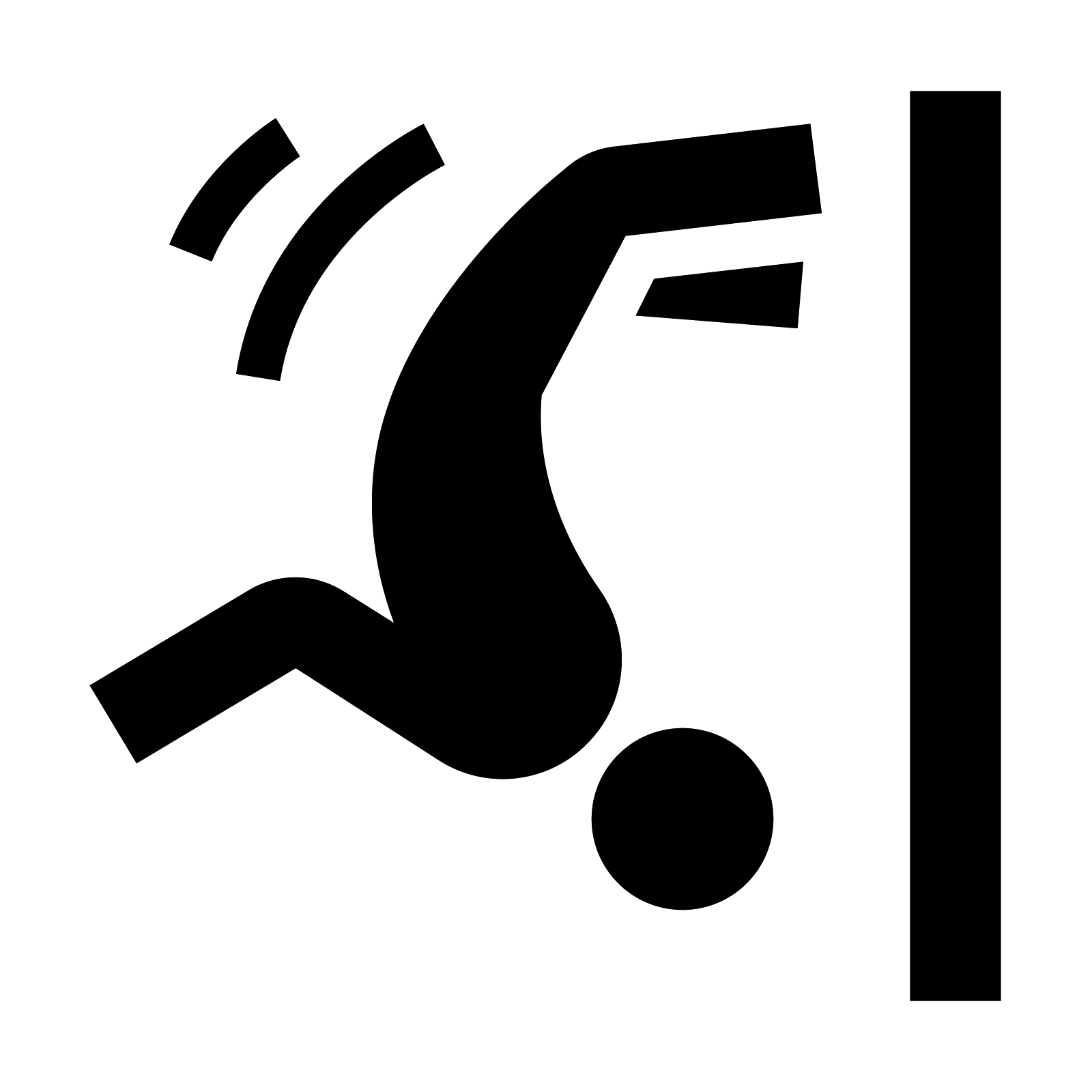 Gymnast silhouette