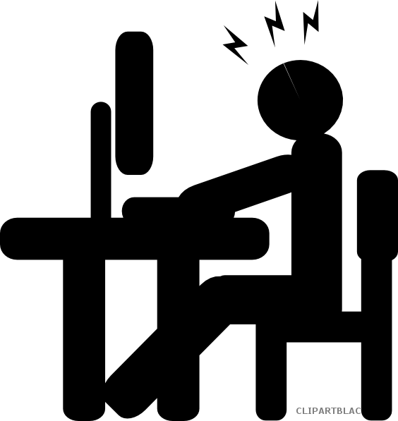 Clipartblack com tools free. Clipart computer silhouette