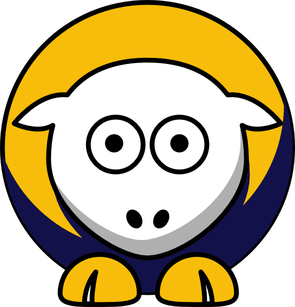 Sheep kent golden flashes. Clipart football ohio state