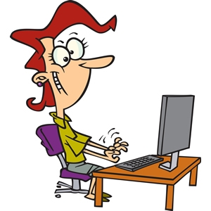 In clip art library. Clipart computer typing