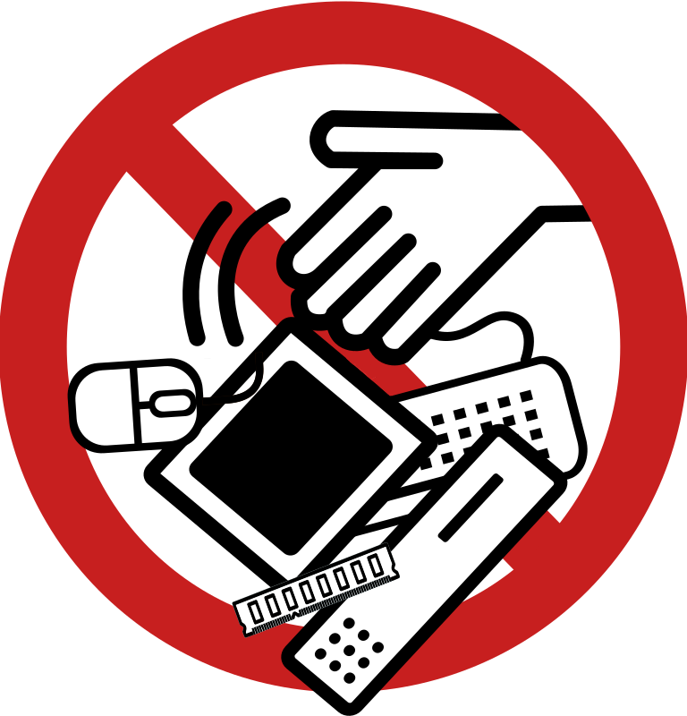 No e medium image. Clipart computer waste