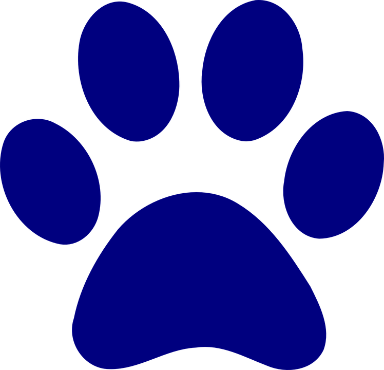 Clipart computer word. Purple color clipground paw