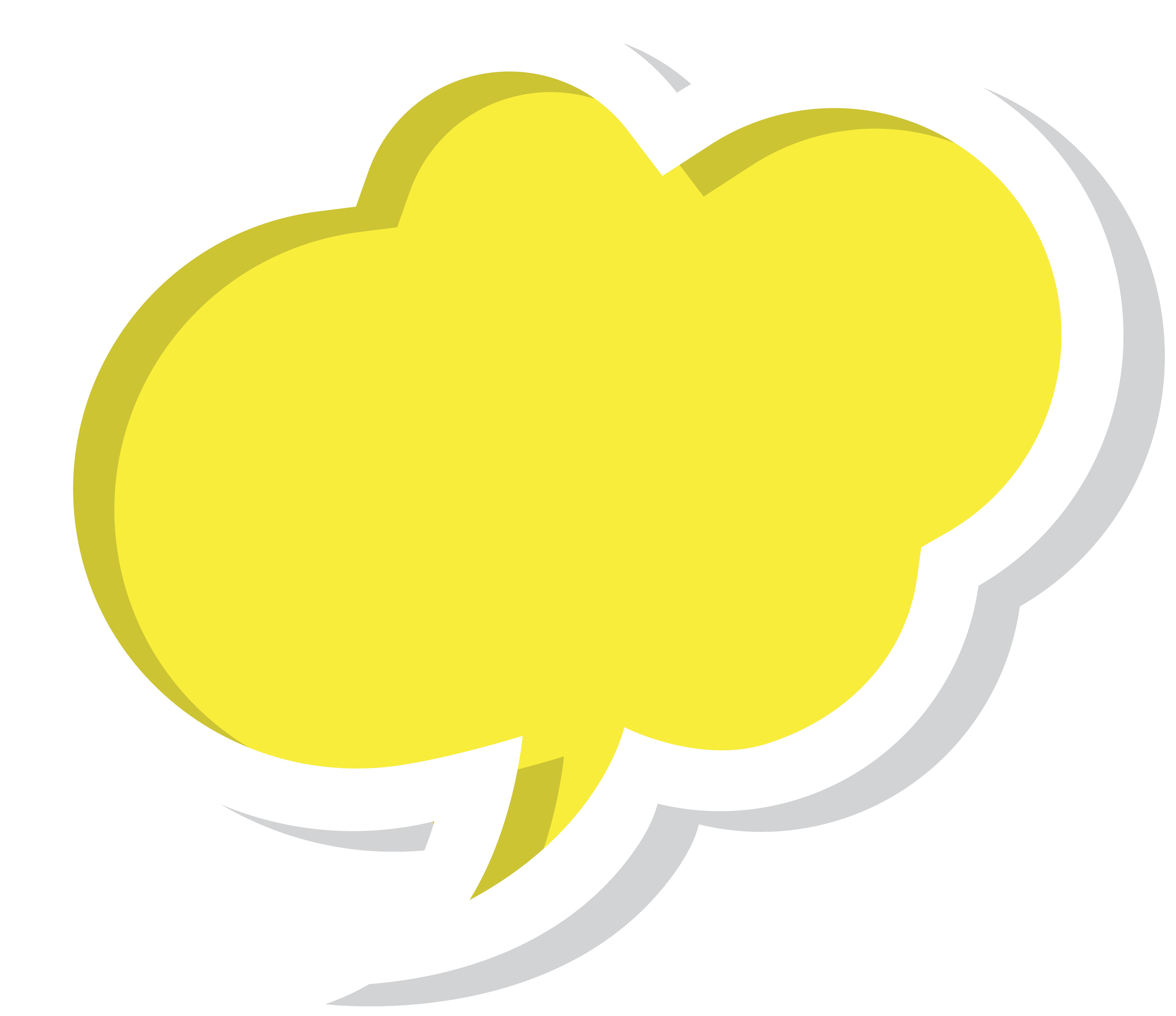 Speech balloon clip art. Computer clipart yellow