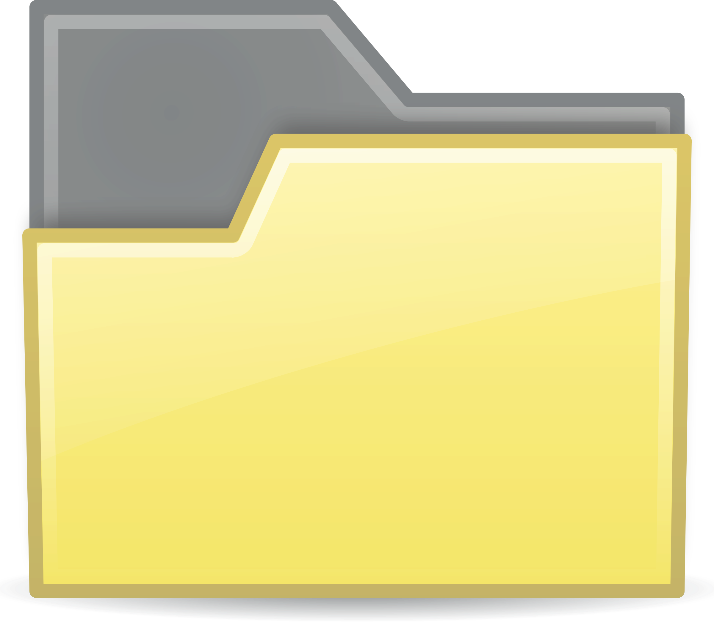 Folder clipart office material. Yellow semitransparent big image