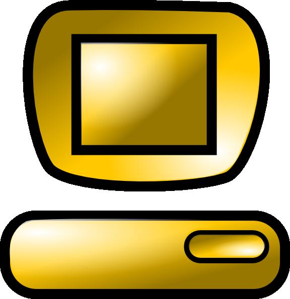 Gold clip art at. Computer clipart yellow