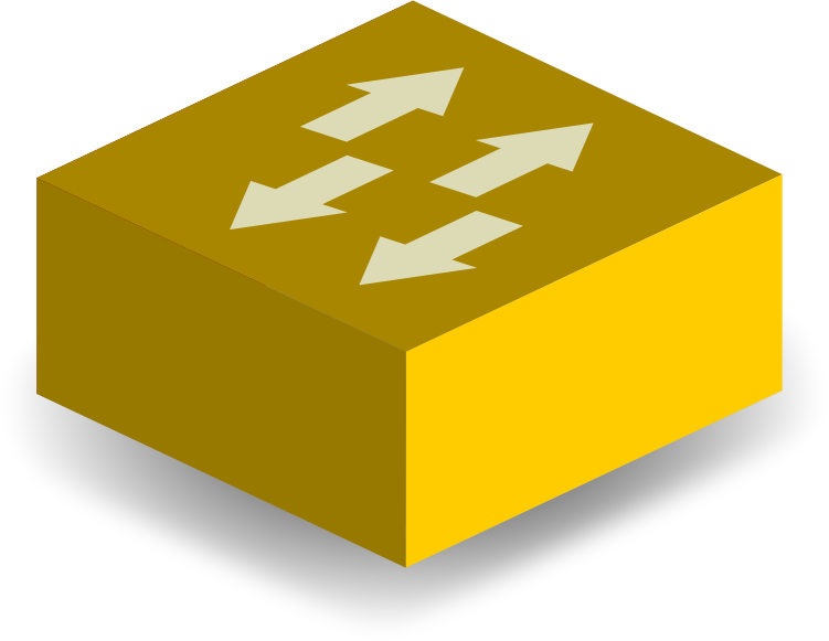 Image for yellow switch computer clip art
