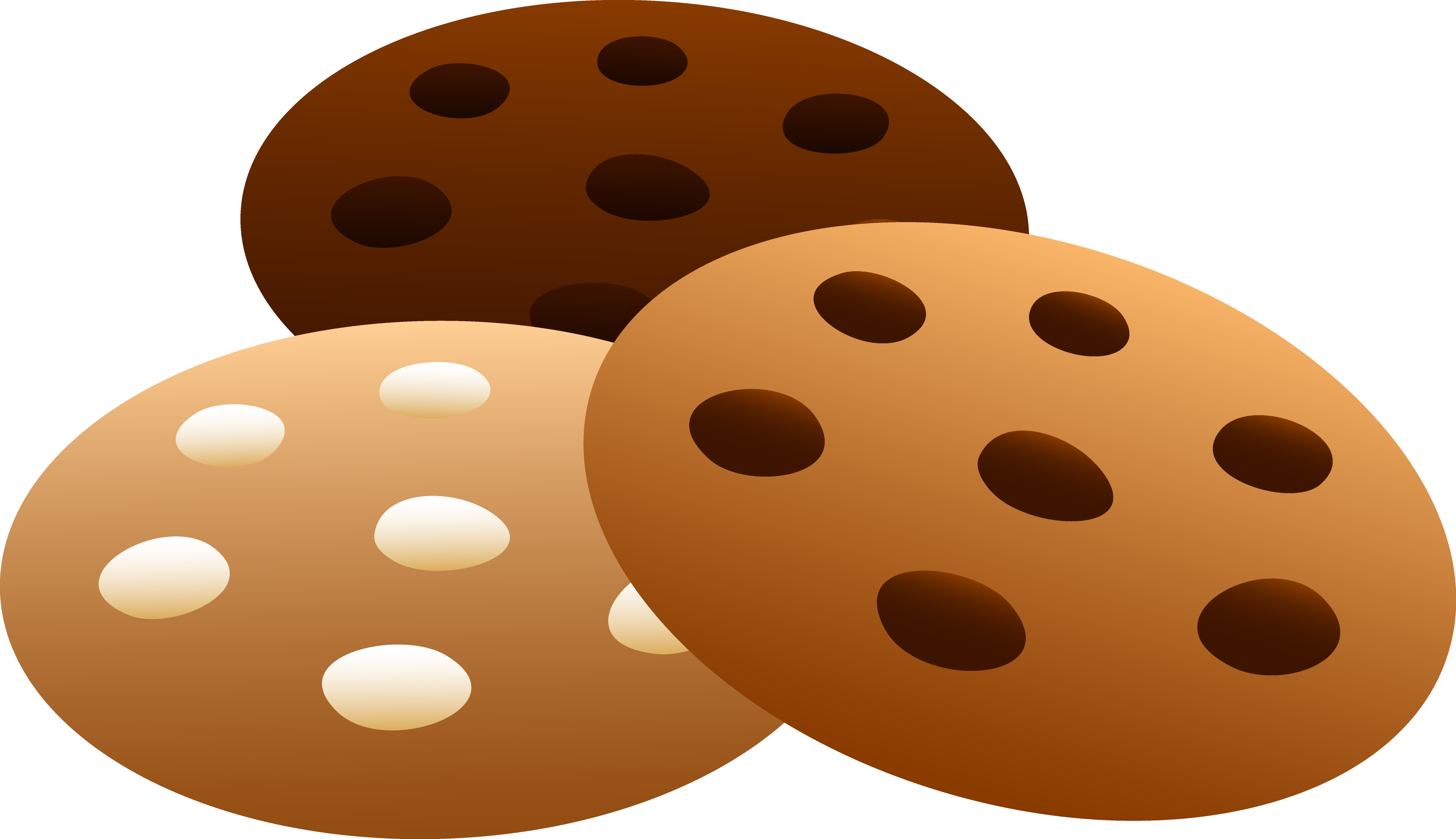 Three flavors of cookies. Nut clipart macadamia nut