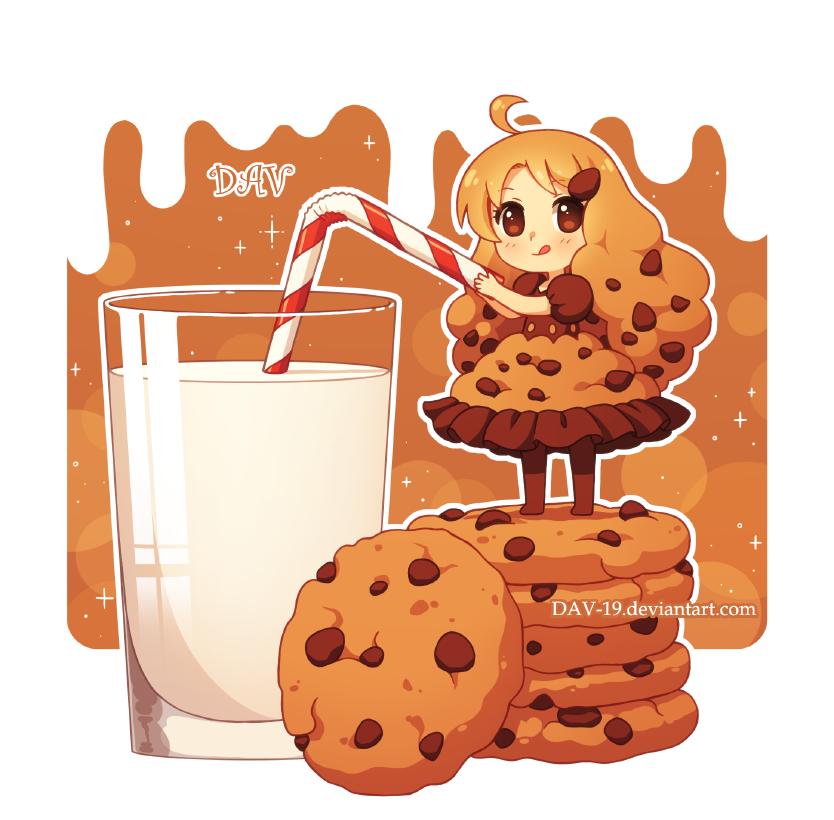 By dav on deviantart. Oreo clipart cookie cream