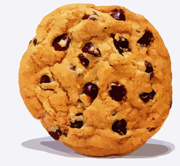 Chocolate chip cookie clip. Clipart cookies