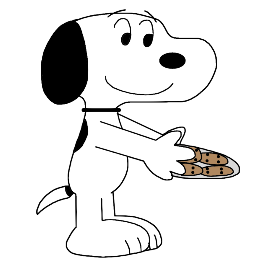 Wednesday clipart snoopy. With cookies by marcospower
