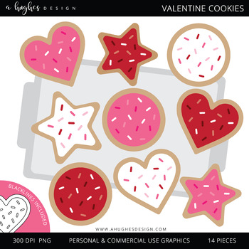 Valentine clipart cookie. Cookies a hughes design
