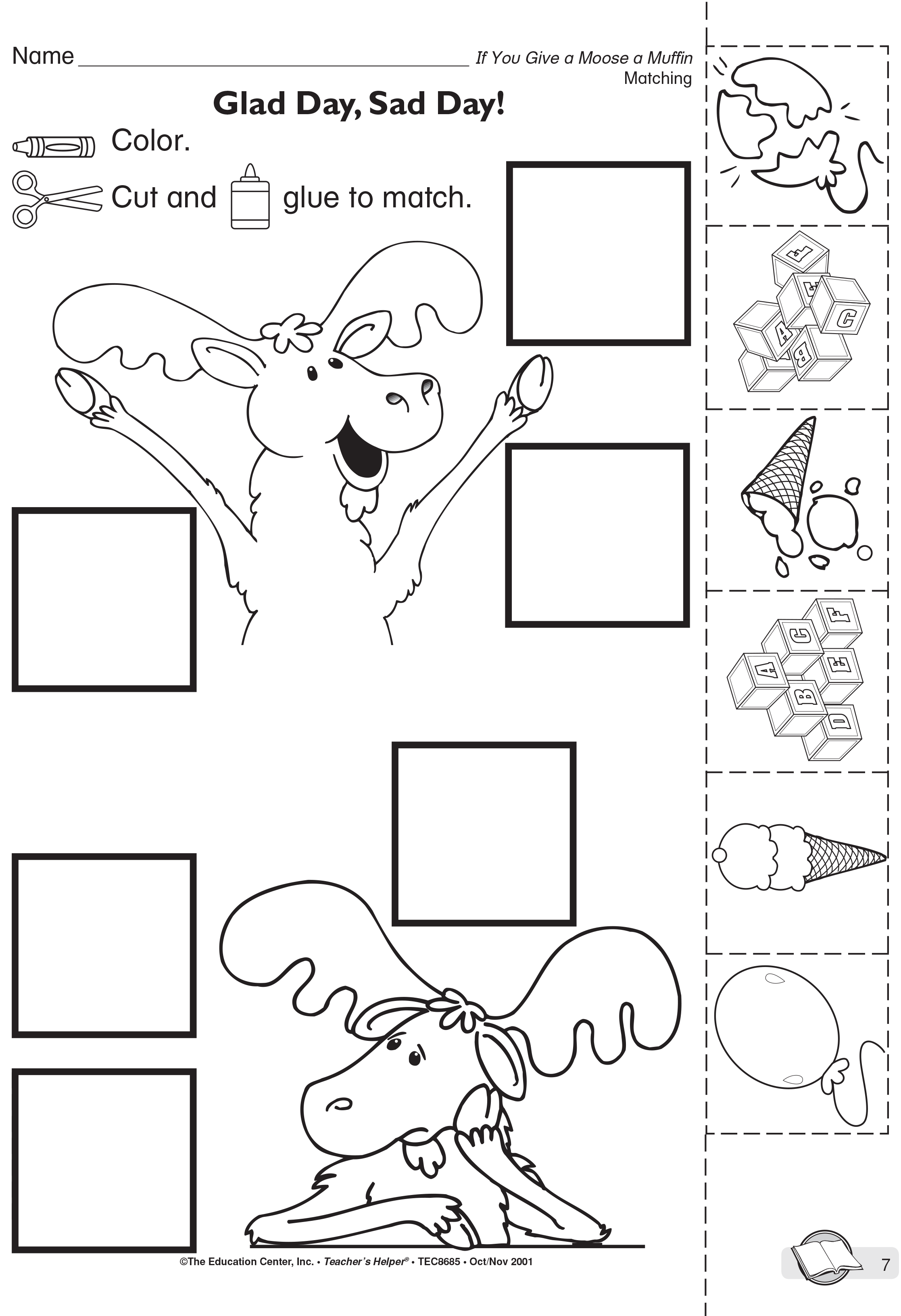 Coloring page classroom activities. Muffin clipart if you give a moose a muffin