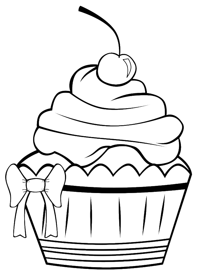 Donuts clipart sprinkle coloring page. A very pretty cupcake