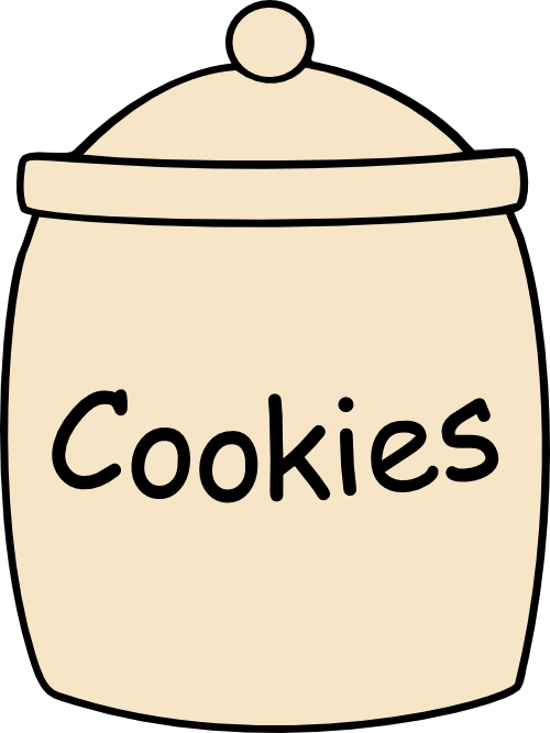 Cookie svg file pinterest. Words clipart jar