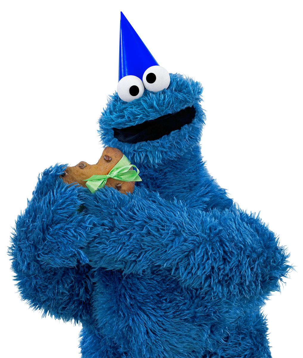 Happy birthday a few. Number 1 clipart cookie monster