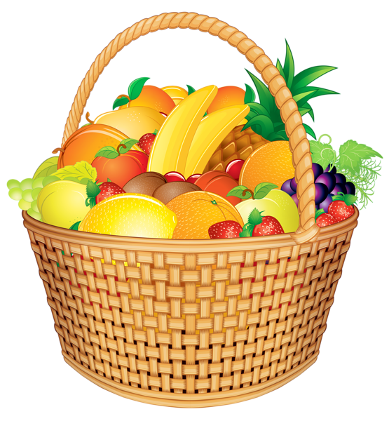 Fruit basket png image. Lemons clipart vector