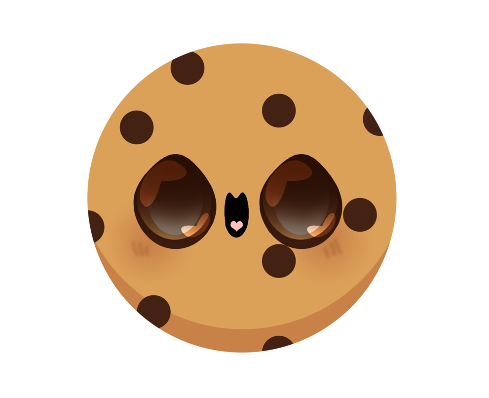 Kawaii by pin eye. Clipart cookies eaten cookie