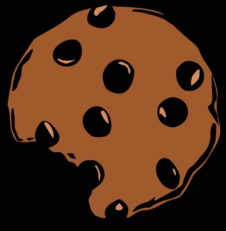 Bite clip art panda. Plate clipart chocolate chip cookie