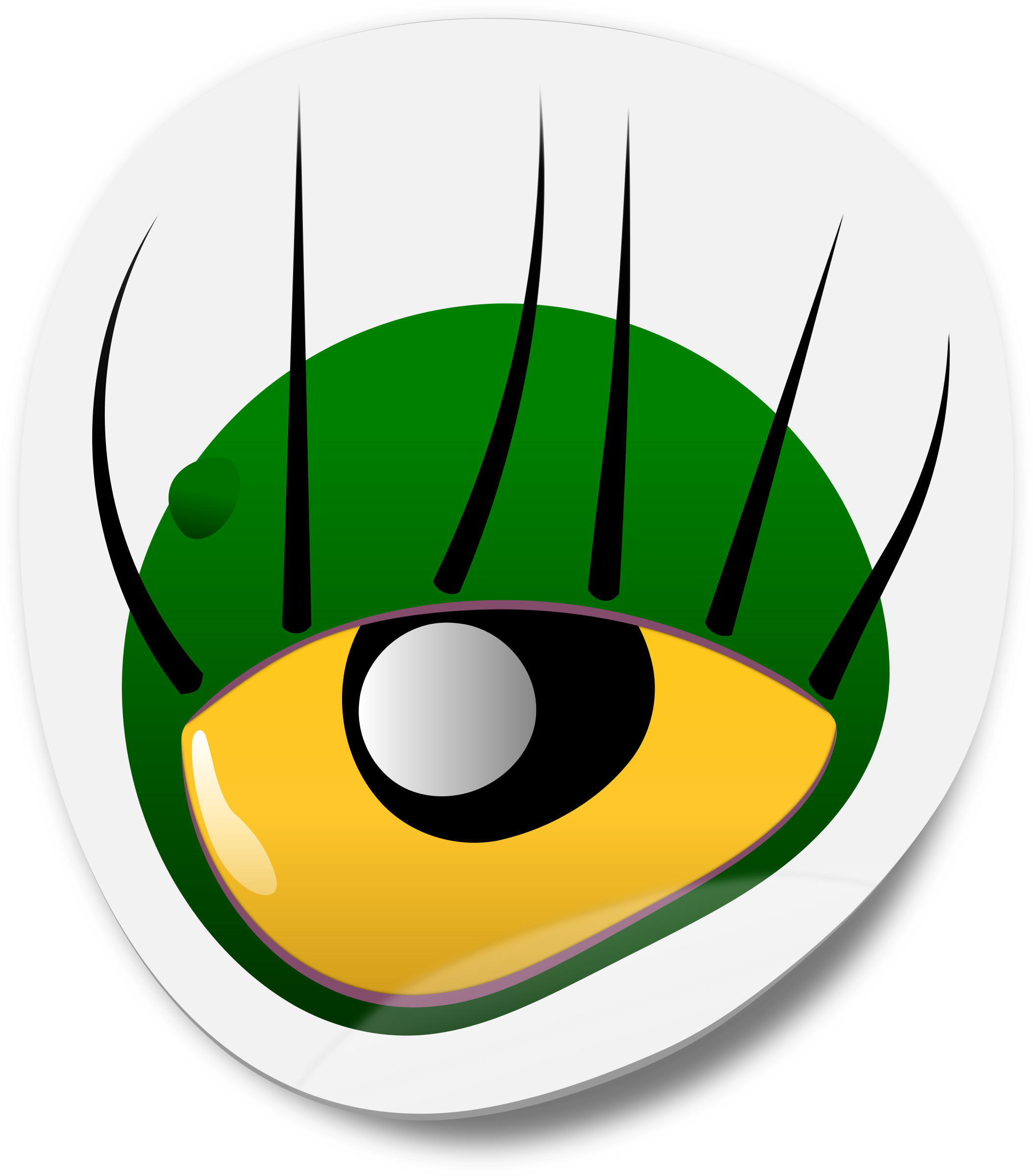 Number 1 clipart eye.  collection of monster