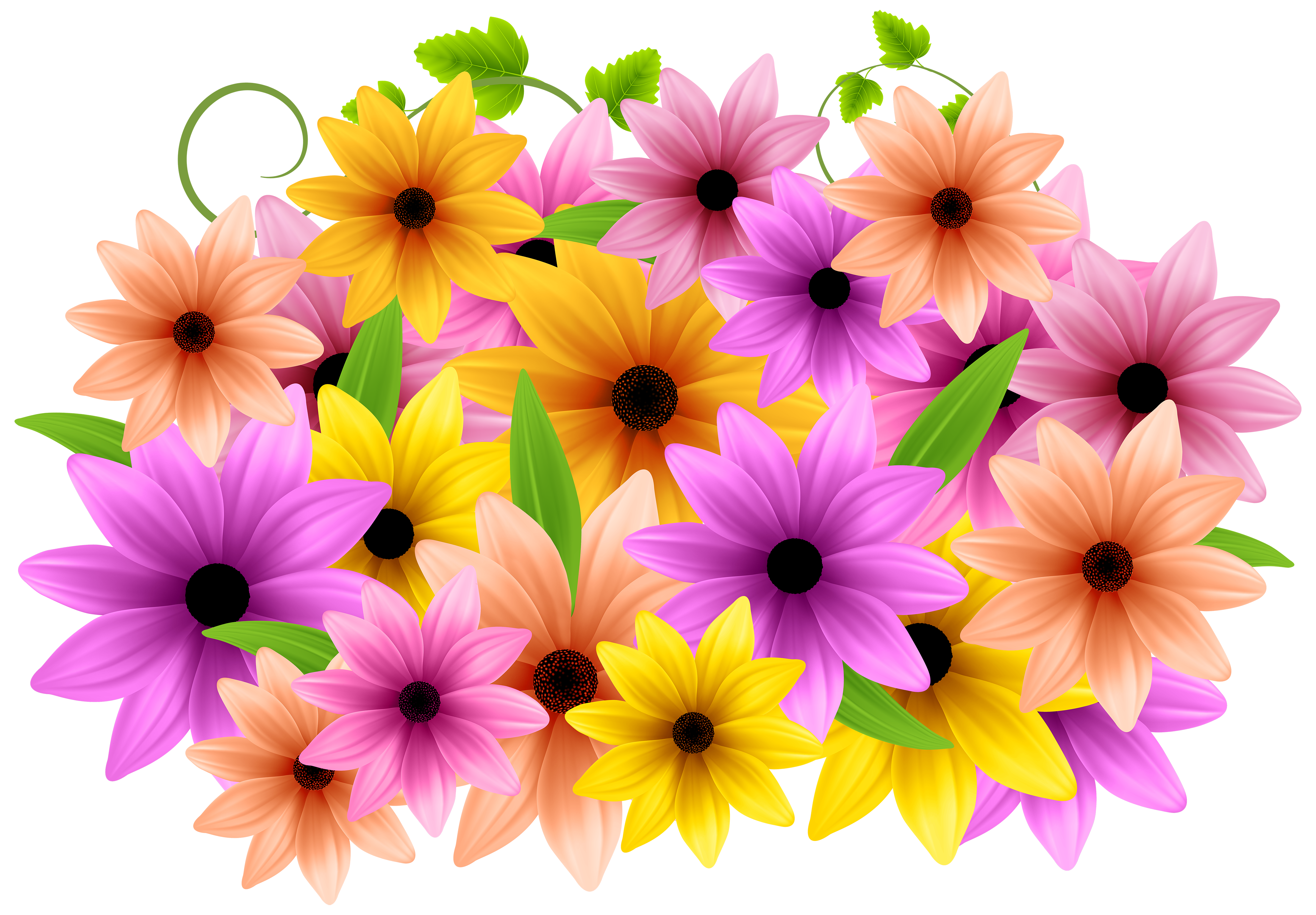 Flowers decoration png clip. Youtube clipart flower
