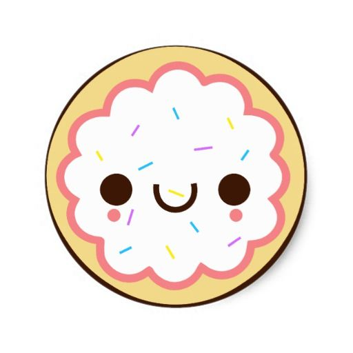 Sugar clip art kawaii. Clipart cookies frosted cookie