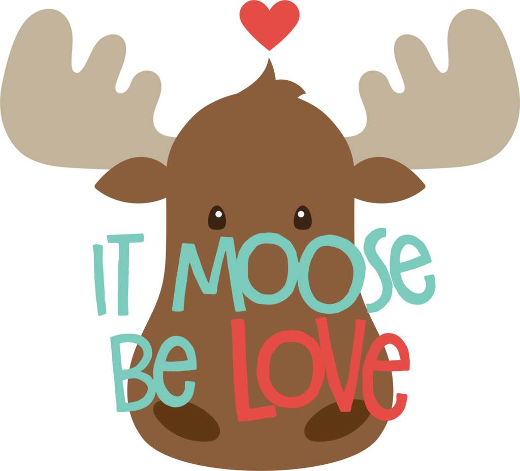 Be love cookie cutter. Moose clipart valentine