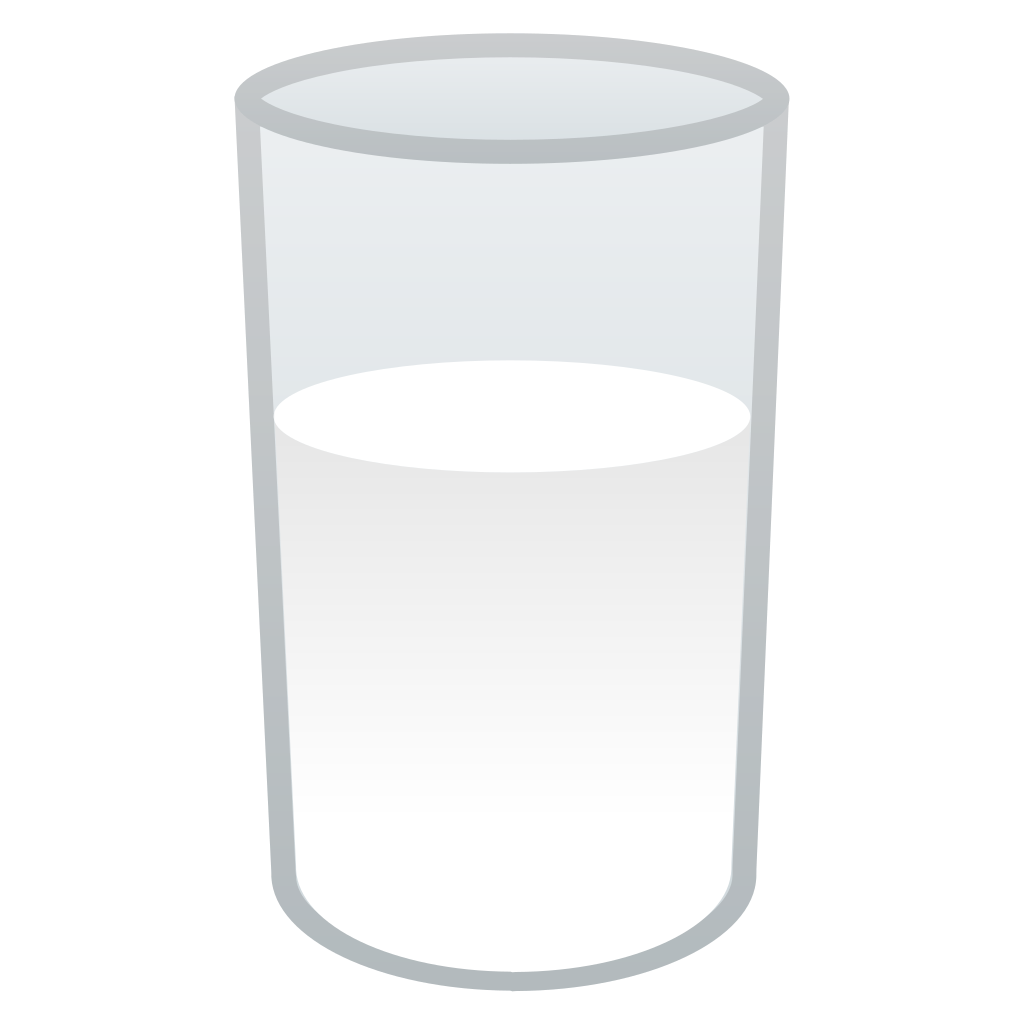 Of icon noto emoji. Cookie clipart glass milk