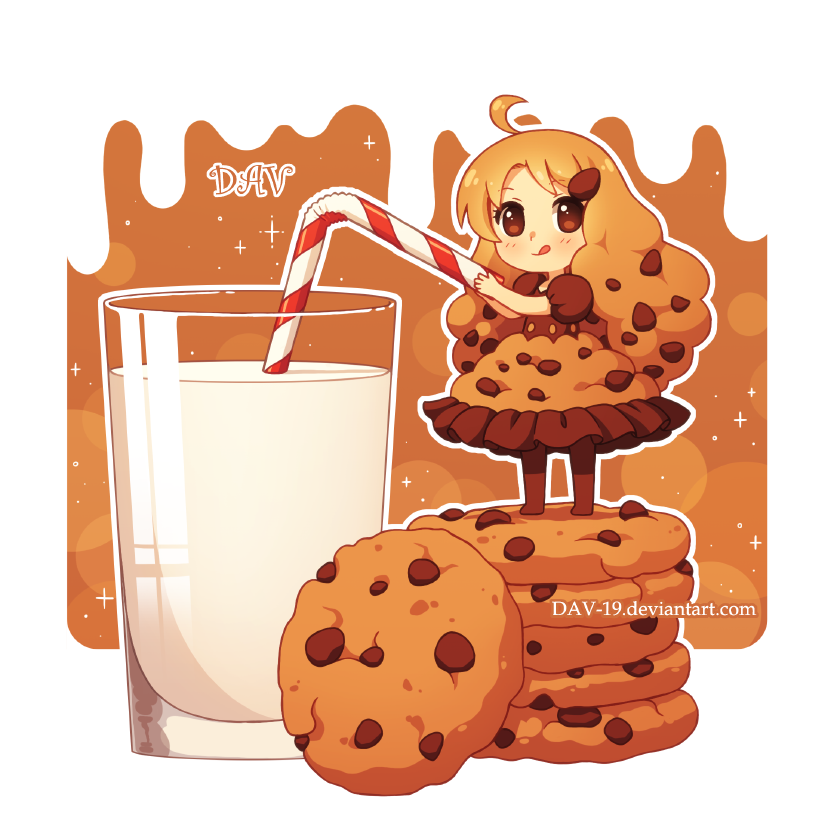 Cookie by dav on. Clipart cookies glass milk