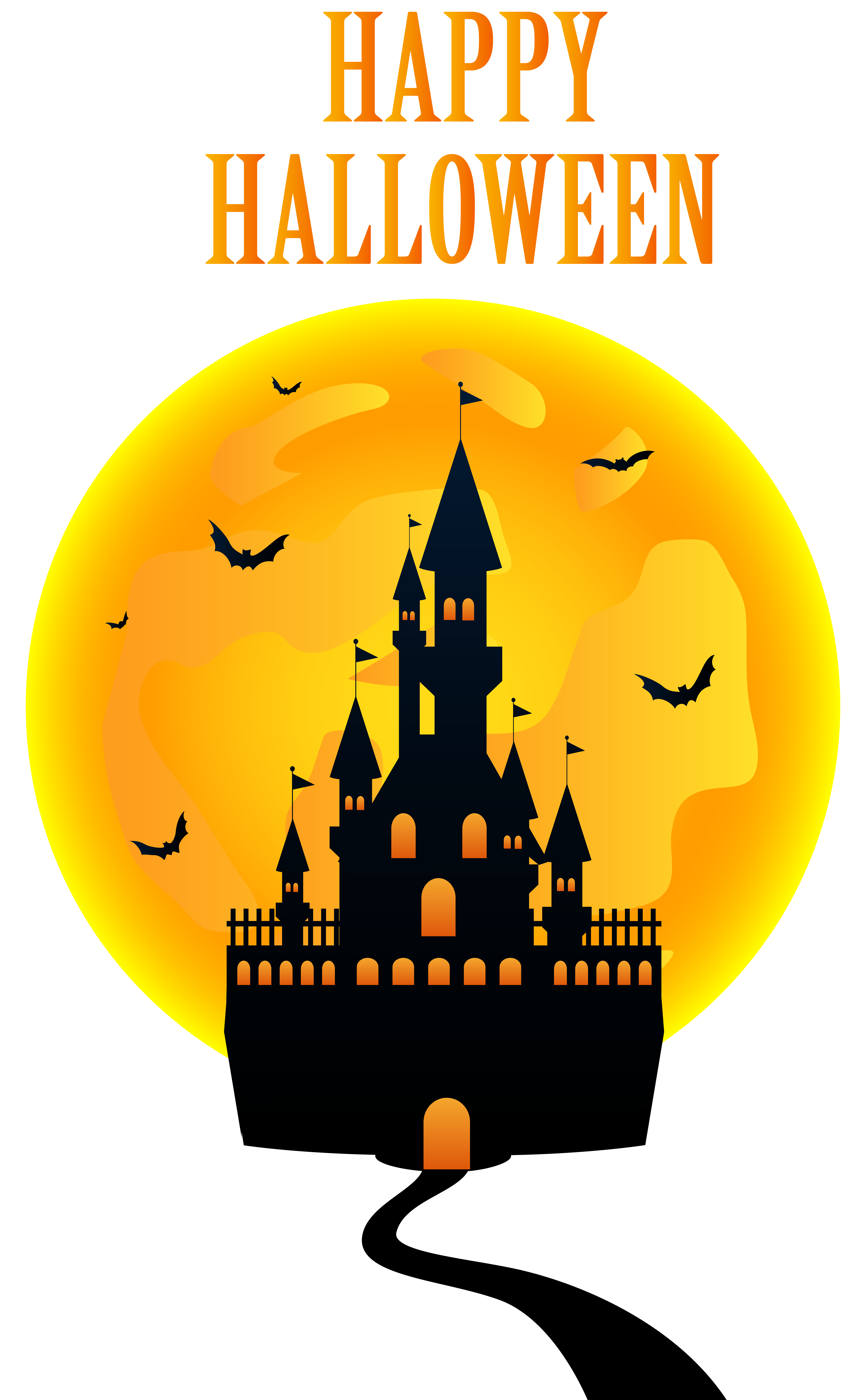 Happy with png clip. Clipart halloween castle