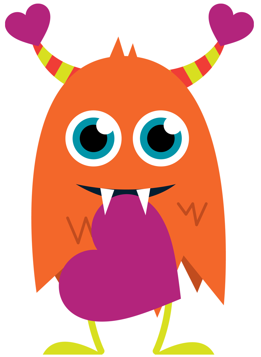 Valentine monster . Clipart library library day