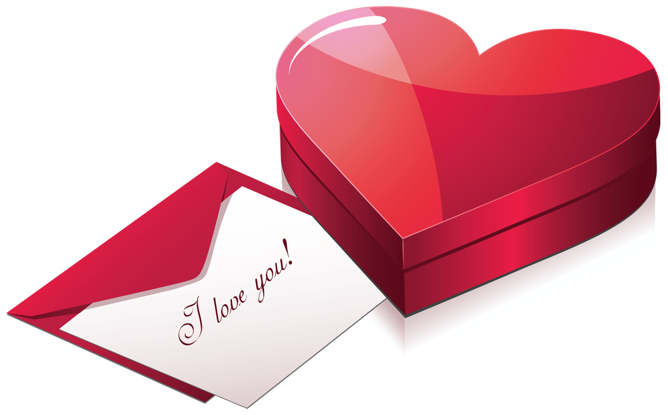 Heart box with gallery. Mail clipart love letter