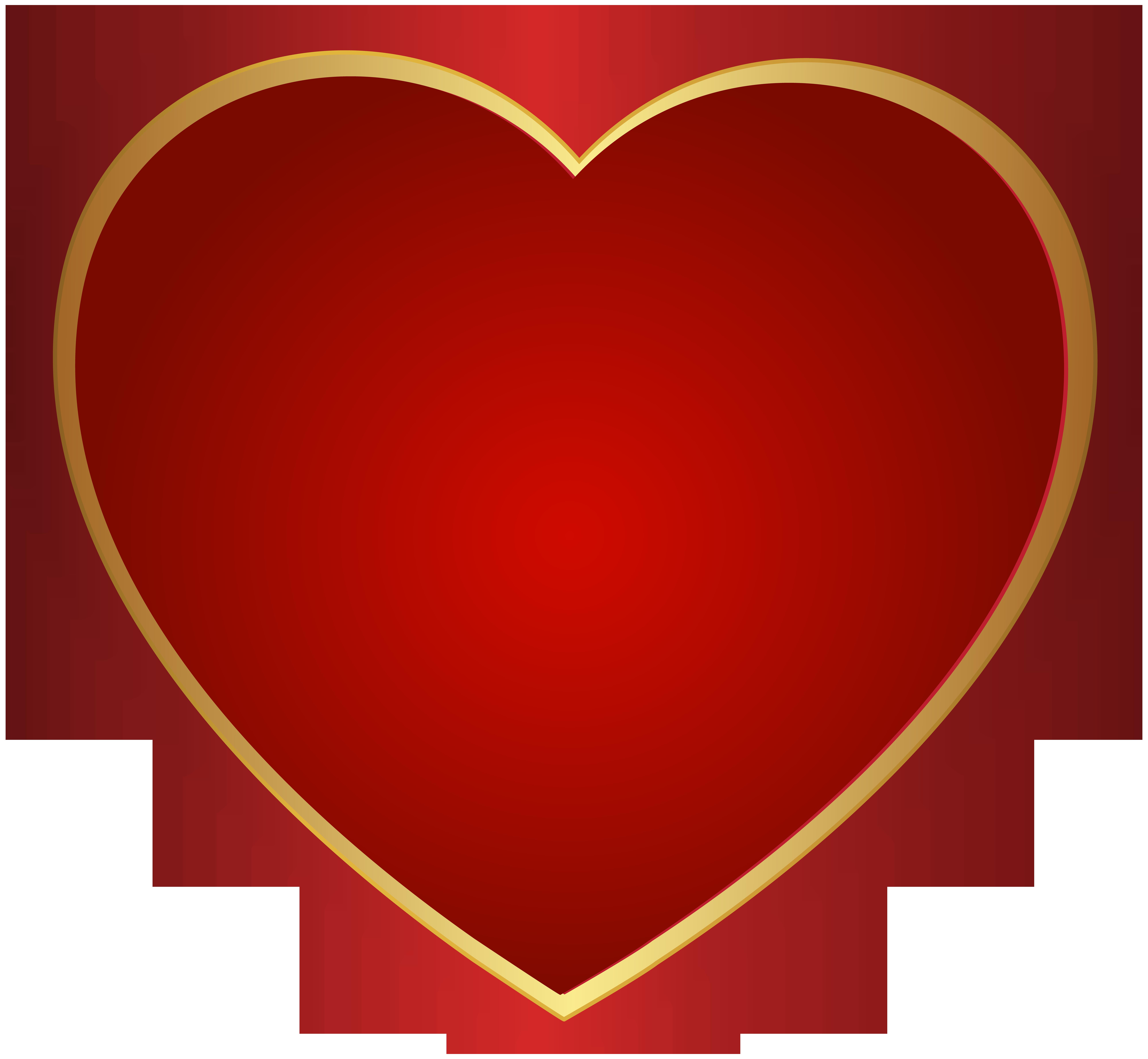 clipart heart orange