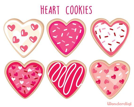 Valentine clipart cookie. Valentines day heart clip