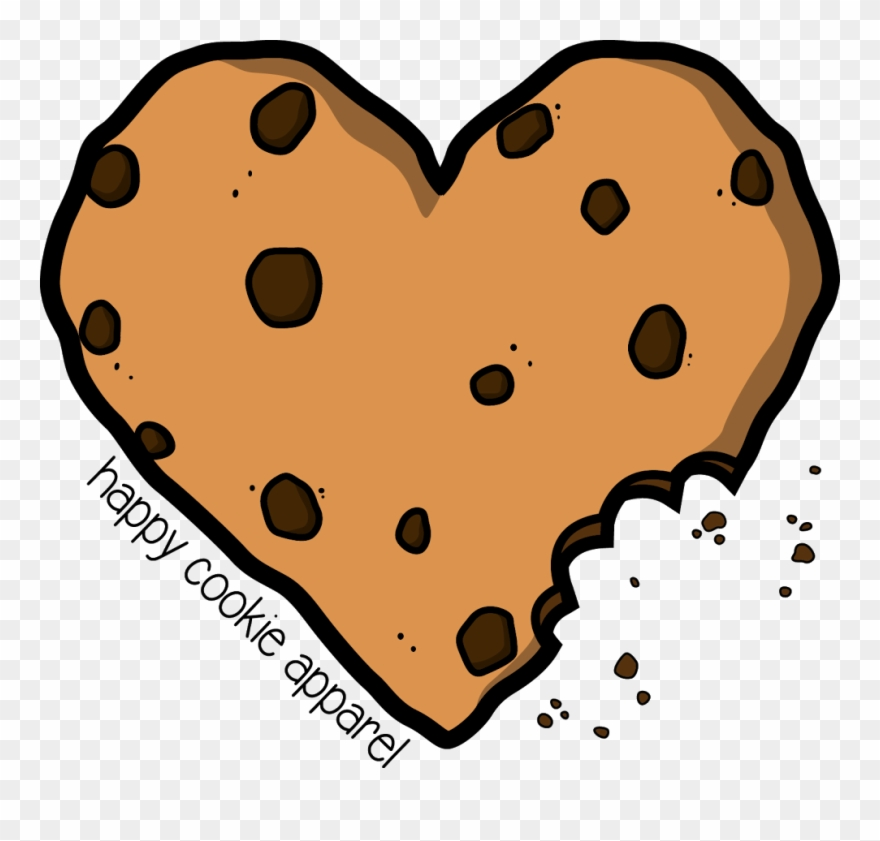 Hearts clipart cookie. Chocolate chip cookies heart