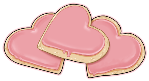 Hearts clipart cookie. Heart shaped sugar cookies