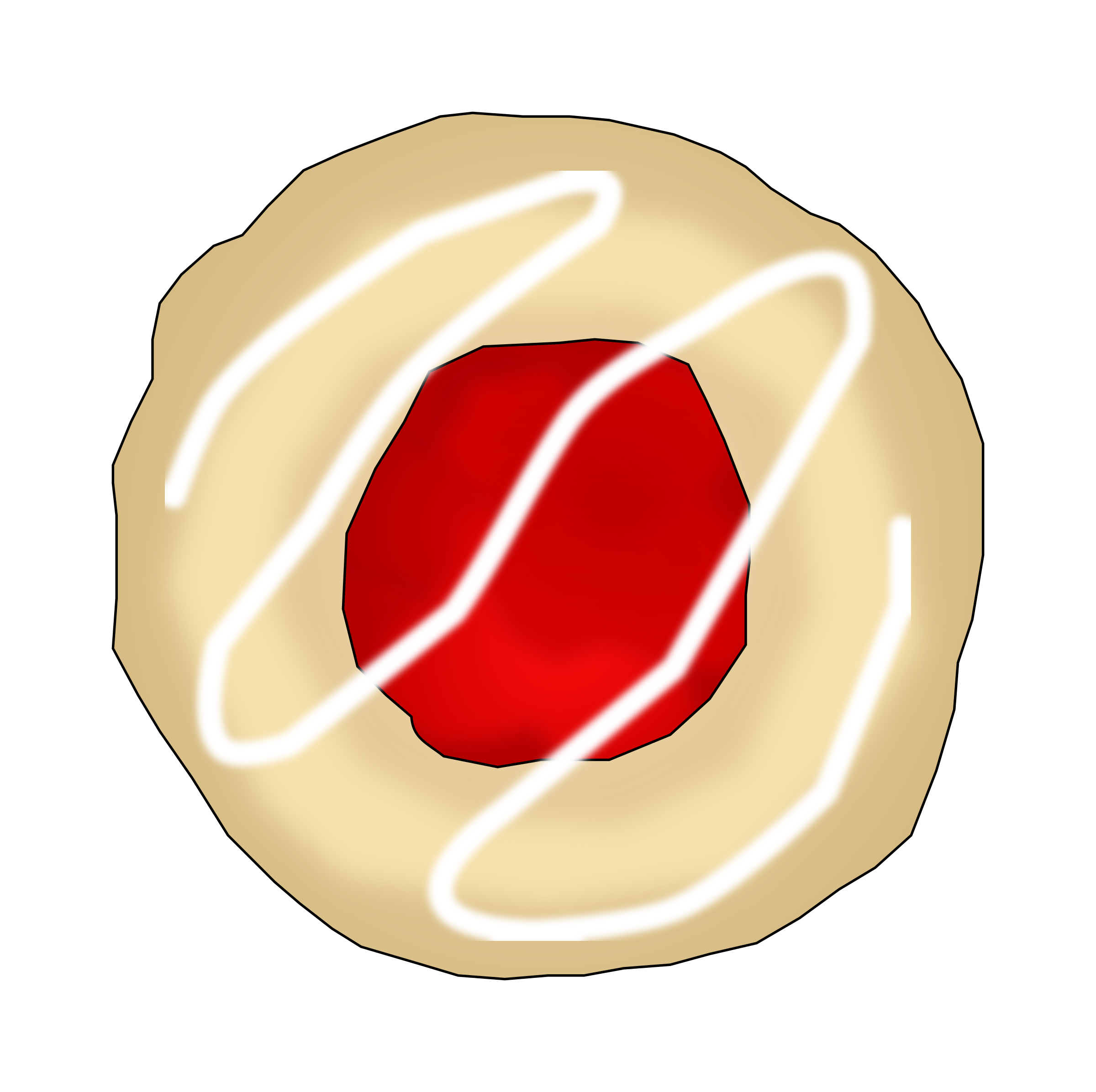 Strawberries clipart raspberry. Or strawberry thumbprint cookie