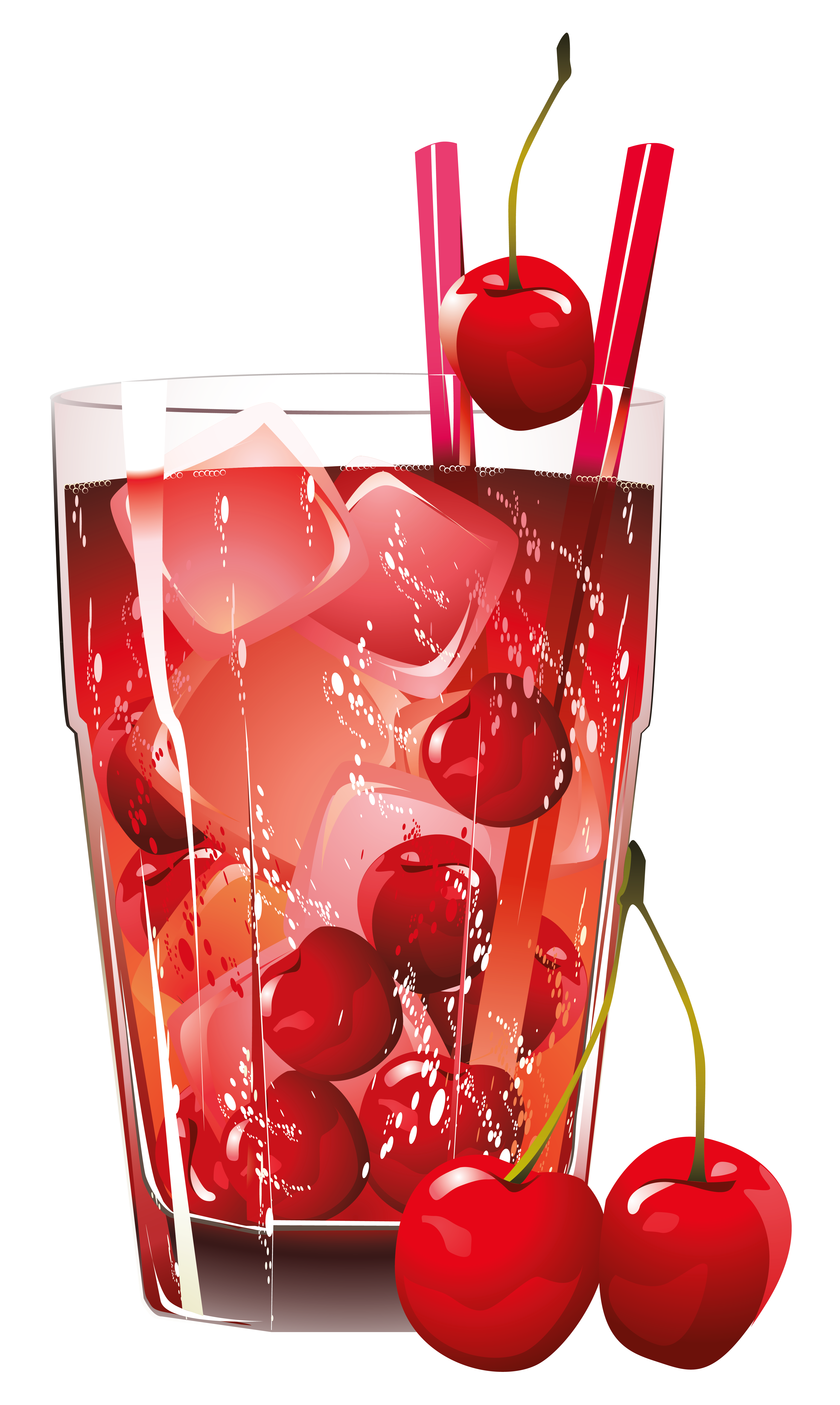 Glass of cherry png. Juice clipart fizzy