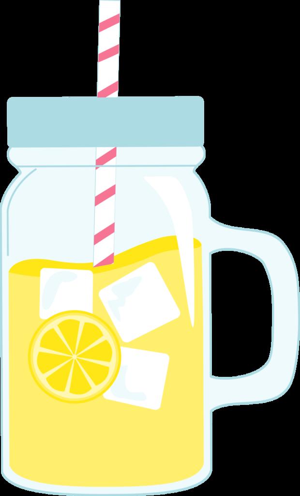 Clipart glasses lemonade. Mason jar glass of