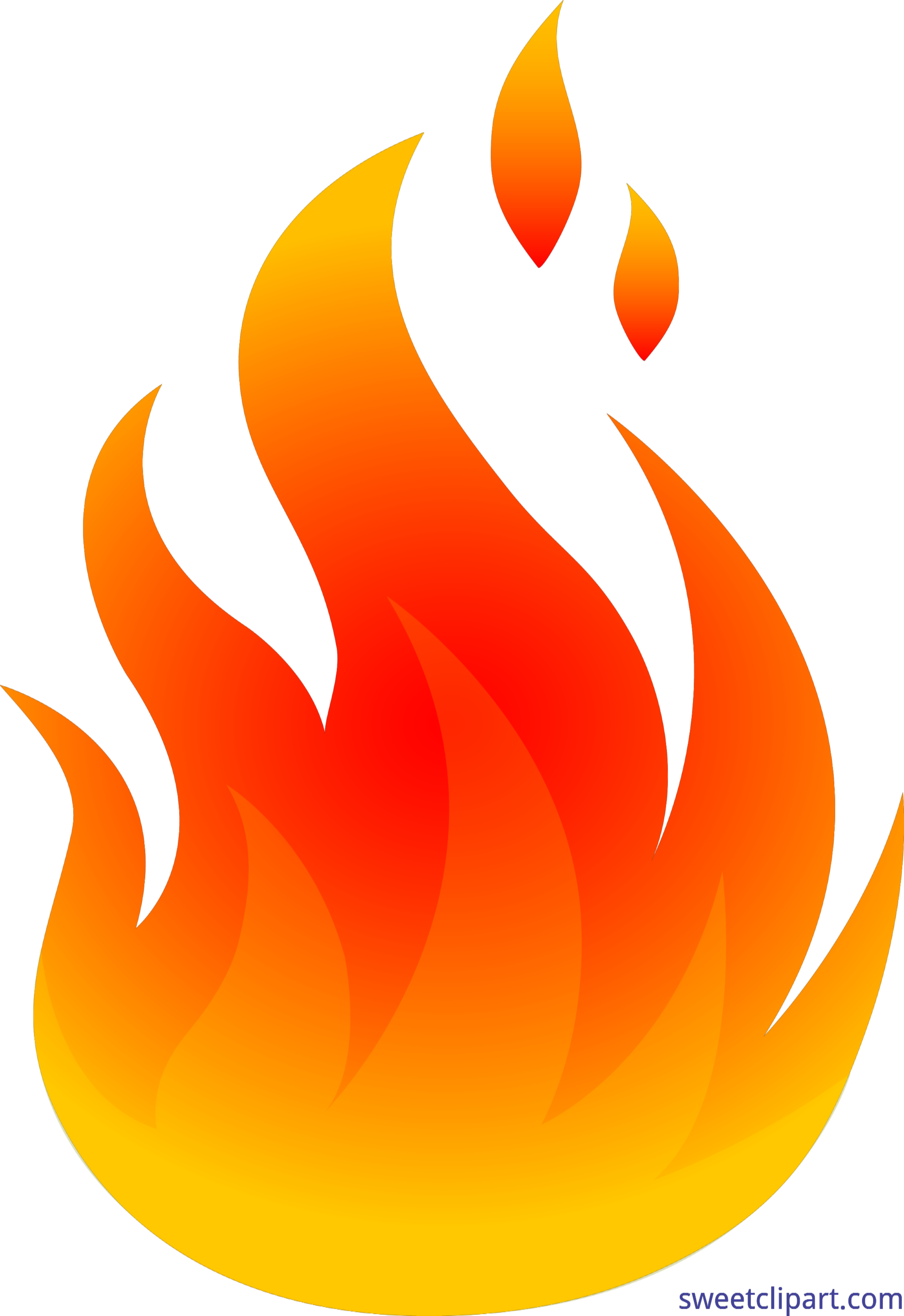 Red and yellow logo. Fire clipart building