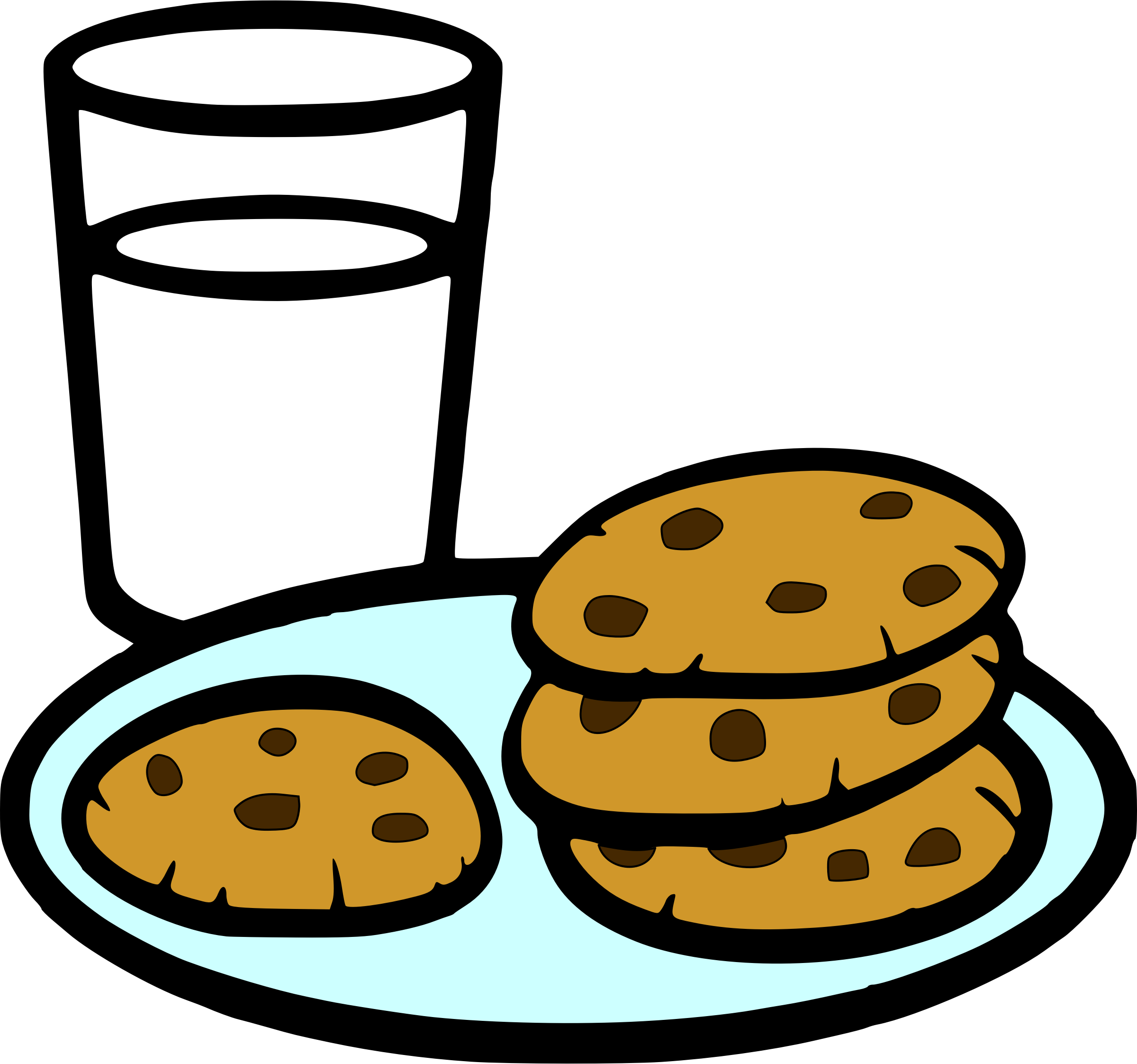 Cookies and big image. Milk clipart choco milk