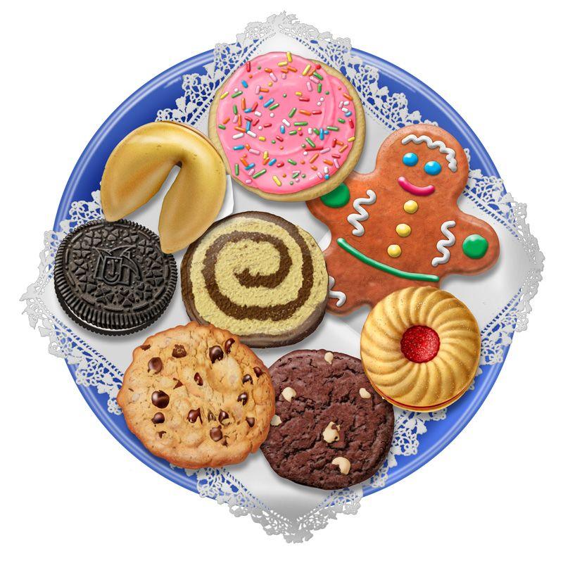 Cookies clipart cookie platter. Christmas clip art plate