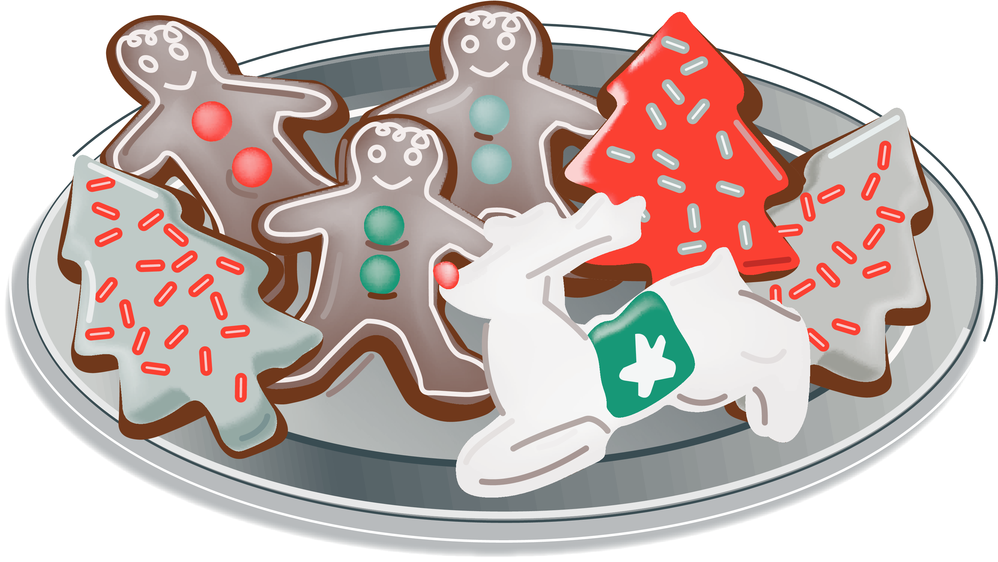 collection of plate. Joy clipart christmas cookie