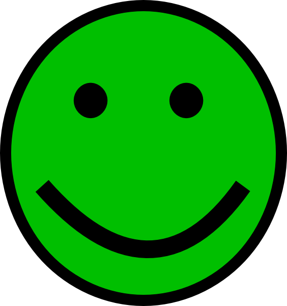 Green clip art at. Exercise clipart smiley face