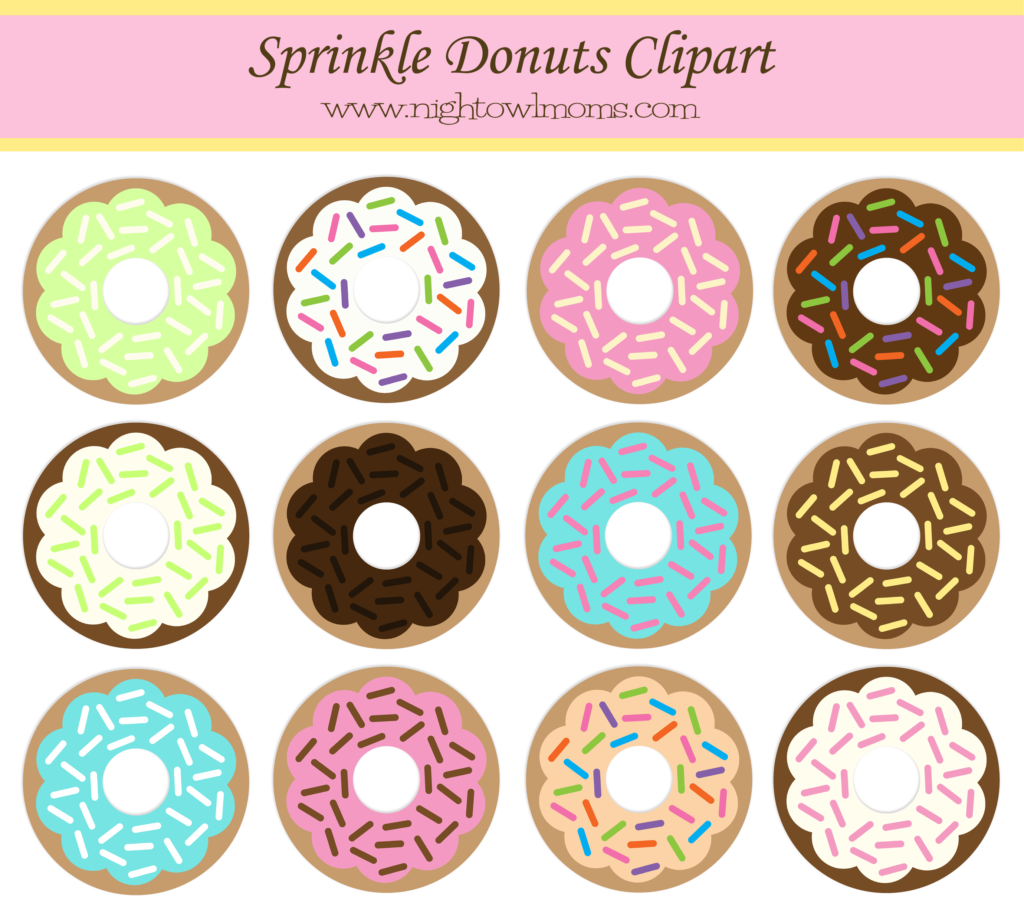 Free sprinkle night owl. Donut clipart circle
