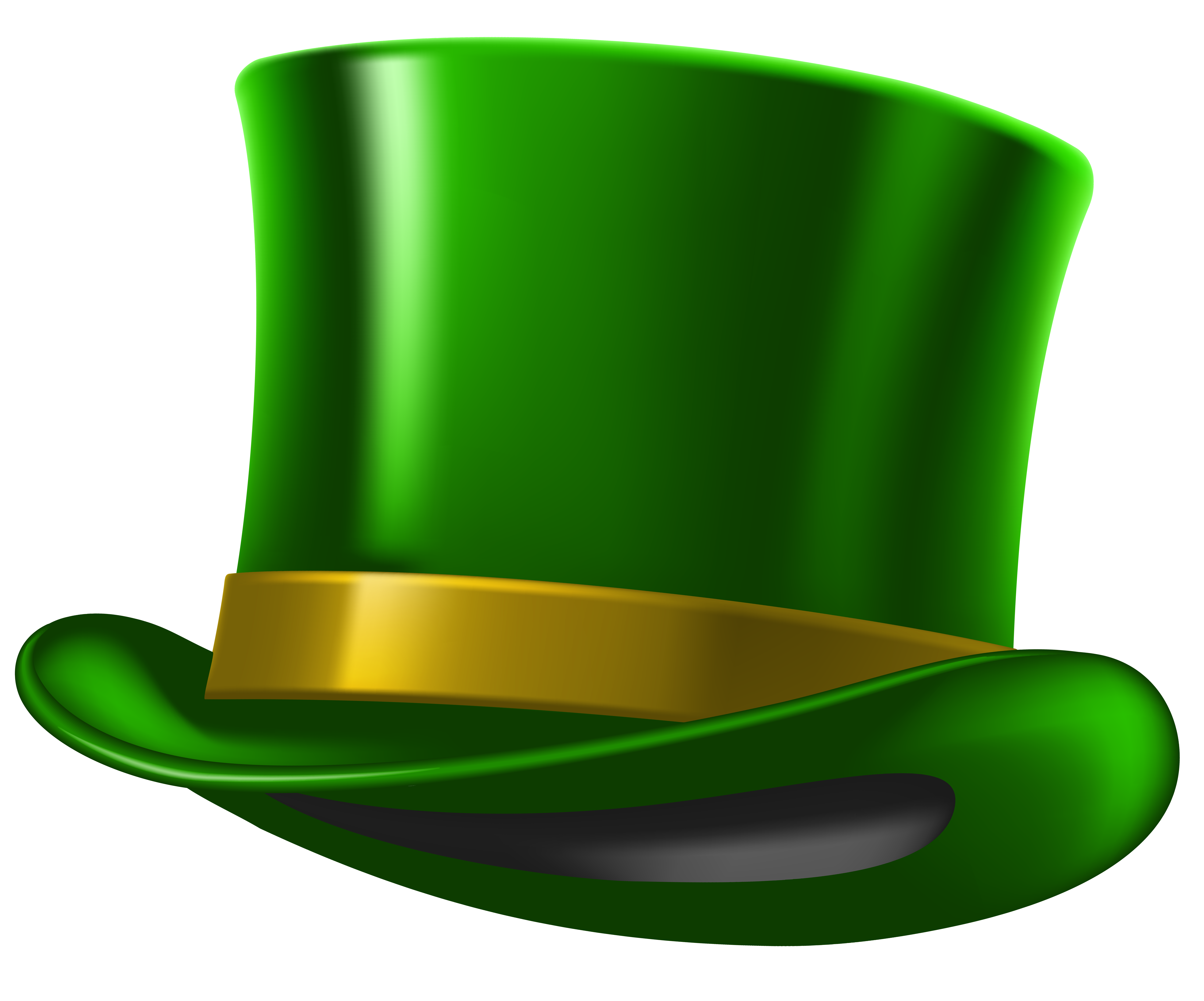 Green patricks png image. Hat clipart st patrick's day